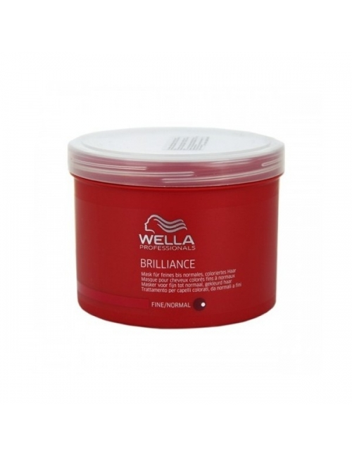 Wella Care Mascarilla Brilliance cabellos teñidos y finos/normales - 500 ml